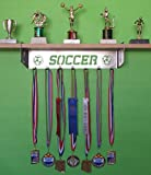 metal and trophy display shelf - Soccer Trophy Shelf and Medal Display (Male)