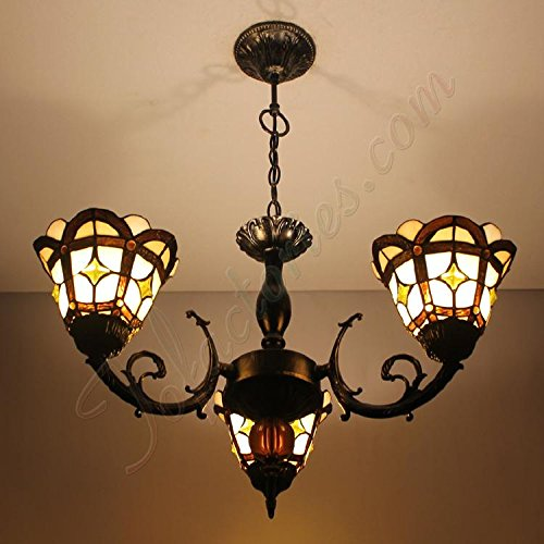 ETERN Continental Cafe Retro Theme Creative Restaurant Lighting Lamp Handmade Chandeliers Pendant Light With 3 Lights