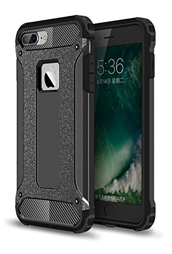 iPhone 7 Plus Case,iPhone 7 Plus Hybrid Case,MT Mall(TM)[Shock Absorbent][Anti Scratch][Heavy Duty]Dual Layer Protective Impact Defender Case[Soft Hard Tough - Mall Mt