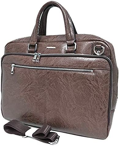 デザイン重視 PUレザーだから可能なプライス ビジネスバッグ メンズビジネストートバッグ 大容量 自立 ショルダー付き アンティーク調