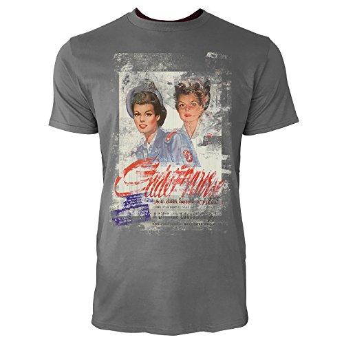 SINUS ART® Twins Herren T-Shirts graues Cooles Fun Shirt mit tollen Aufdruck