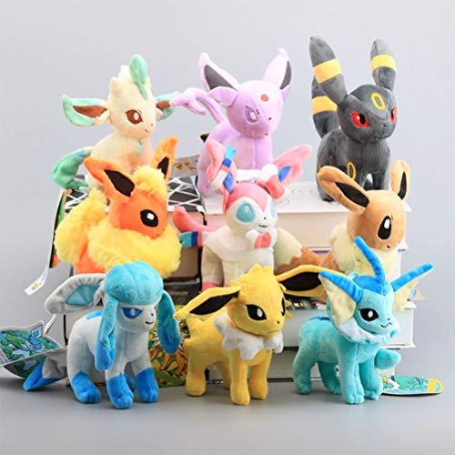 LQT Ltd 1PC - Stuffed Animals Plush Toys Standing Sylveon Umbreon Eevee Espeon Vaporeon Flareon Stuffed Animal Soft Dolls Kids Gift 8