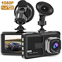 T10 Dash Cam, 3 Inch Big Screen 1080P HD IPS Display Vehicle Driving Recording Cameras, Built In G-Sensor, Motion Detection, LED Light Compensation, ParkingMonitoring, HDR Night Vision, Reversing Backup Camera