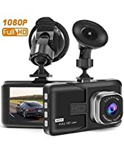 C9 Dash Cam, 3 Inch Big Screen 1080P HD IPS Display Vehicle Driving Recording Cameras, Built In G-Sensor, Motion Detection, LED Light Compensation, Parking Monitoring, HDR Night Vision, Reversing Backup Camera