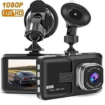 Dash CAM, cámara de salpicadero para Coches con Full HD 1080P 170 Grados Super Gran