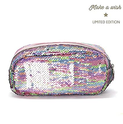 MAKE A WISH NECESER LENTEJUELES REVERSIBLE: Amazon.es: Belleza