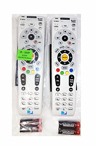 RC66X 2 Pack DirecTV RC66X IR Remote Control 2 Pack - Universal Programmable 4-device for H24 H25 HR24 With XMP (+ all IRs), Batteries, - Tv Rc64 Direct Remote