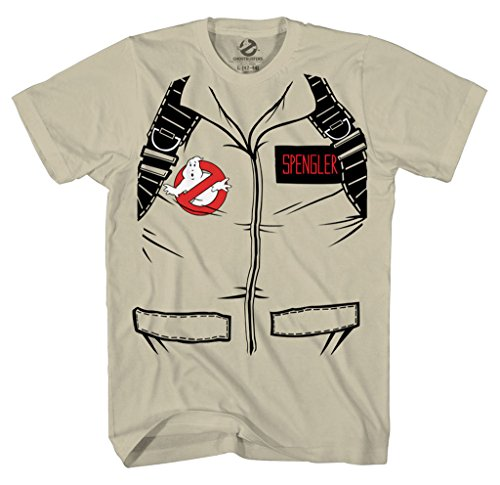 Ghostbusters T Shirt (Ghostbuster SPENGLER SHORT SLEEVE Costume T-Shirt With Back Print (Adult)