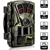 Waterproof Hunting Trail Cameras Men Fathers Day-16MP 1080P 120 Degree Wide Angle 2.4'