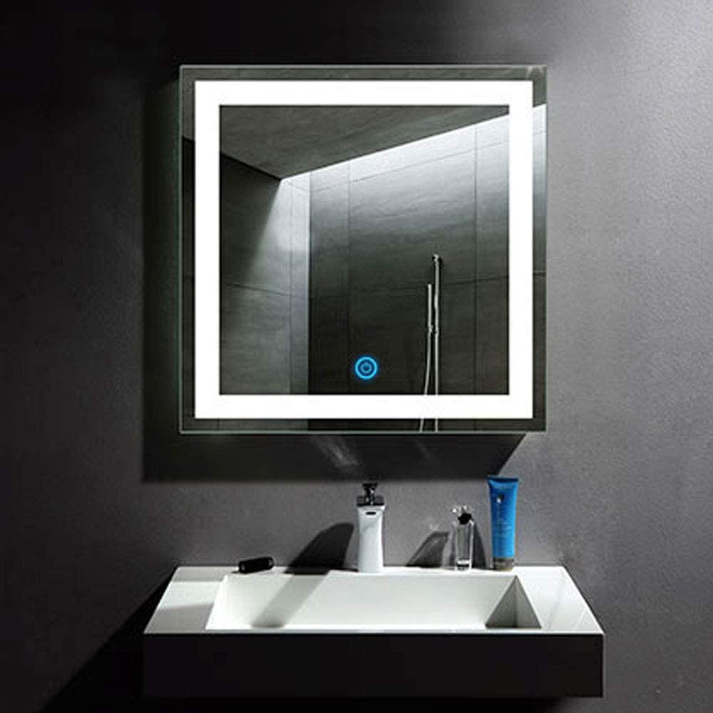 A-CK010 Decoraport 24 Inch 32 Inch Vertical LED Wall Mounted Lighted Vanity Bathroom Silvered Mirror with Touch Button