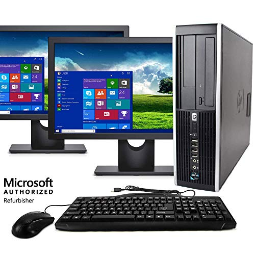 Blair Technology Group Wireless Desktop Computer Package Compatible with HP Elite Intel Quad Core i5 3.1-GHz, 8gb Ram, 1 TB, Dual 19