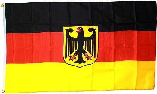 Fahnenwelt MM Bandera/Bandera Alemania con águila, Multicolor, 150 ...