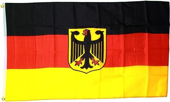 Fahnenwelt MM Bandera/Bandera Alemania con águila, Multicolor, 150 x 90 x 1 cm, 16308: Amazon.es: Jardín