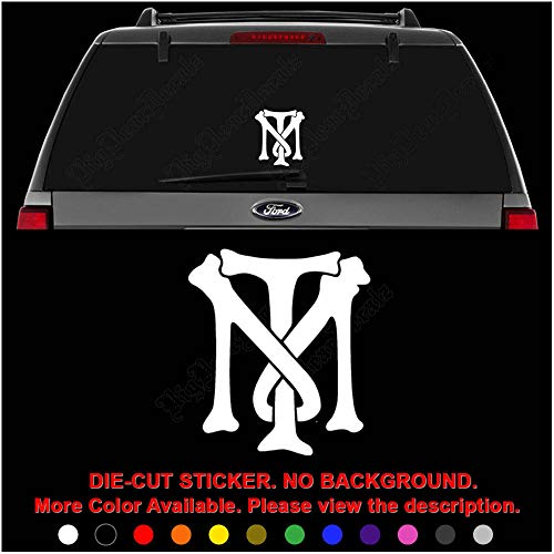 Tony Montana Bones Initial Die Cut Vinyl Decal Sticker for Car Truck Motorcycle Vehicle Window Bumper Wall Decor Laptop Helmet Size- [12 inch] / [30 cm] Wide || Color- Gloss Black