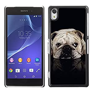 Vortex Accessory Carcasa Protectora Para Sony Xperia Z2 D6502 D6503 D6543 L50T L50U - English British Bulldog Black Dog Pet -