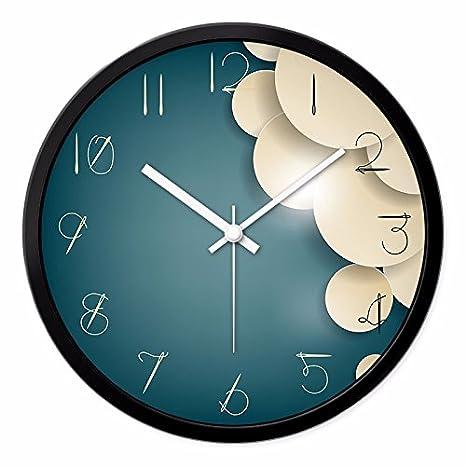 Relojes Reloj de pared reloj moderno creativo de Dibujo gráfico de pared relojes de cuarzo dormitorio personalidad silencio de una sencillez elegante, ...