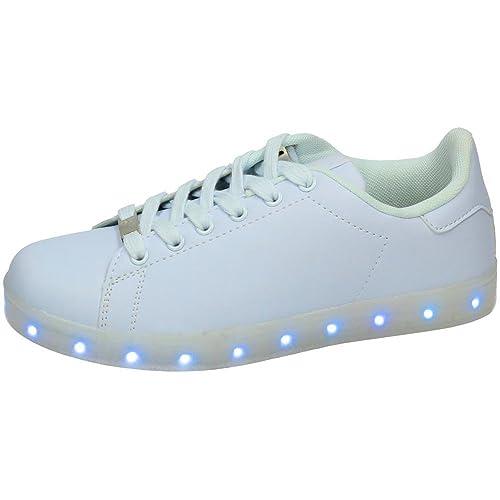 cc8129be DEMAX 7-P7900A1-12 Zapatillas Luces LED Mujer Deportivos: Amazon.es: Zapatos  y complementos