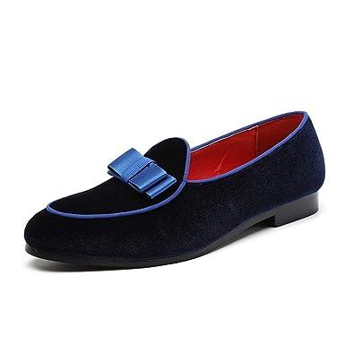 Hombres Gamuza Mocasines Vestidos de Novia Zapatos Caballeros Formales: Amazon.es: Zapatos y complementos