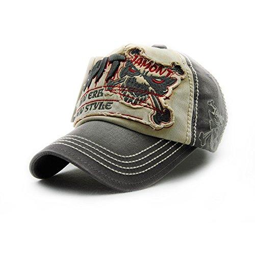 [Gorras Beisbol Planas Snapback Caps Wolf Bone Baseball Cap Golf Hats For Men Women Casquette Hip Hop Boys Homme Driver Sun Hat (Number 1 Dark Grey)] (Mannequin Homme En Costume)