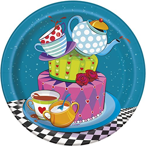 [Mad Hatter Tea Dessert Plates, 8ct] (Amazing Alice In Wonderland Costumes)