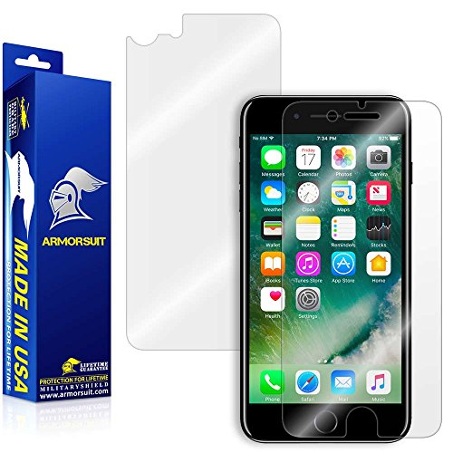 iPhone 7 Screen Protector + Back Protector [Case Friendly], ArmorSuit MilitaryShield Lifetime...