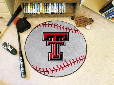 (Fanmats Texas Tech University Baseball Mat/27 Diameter)