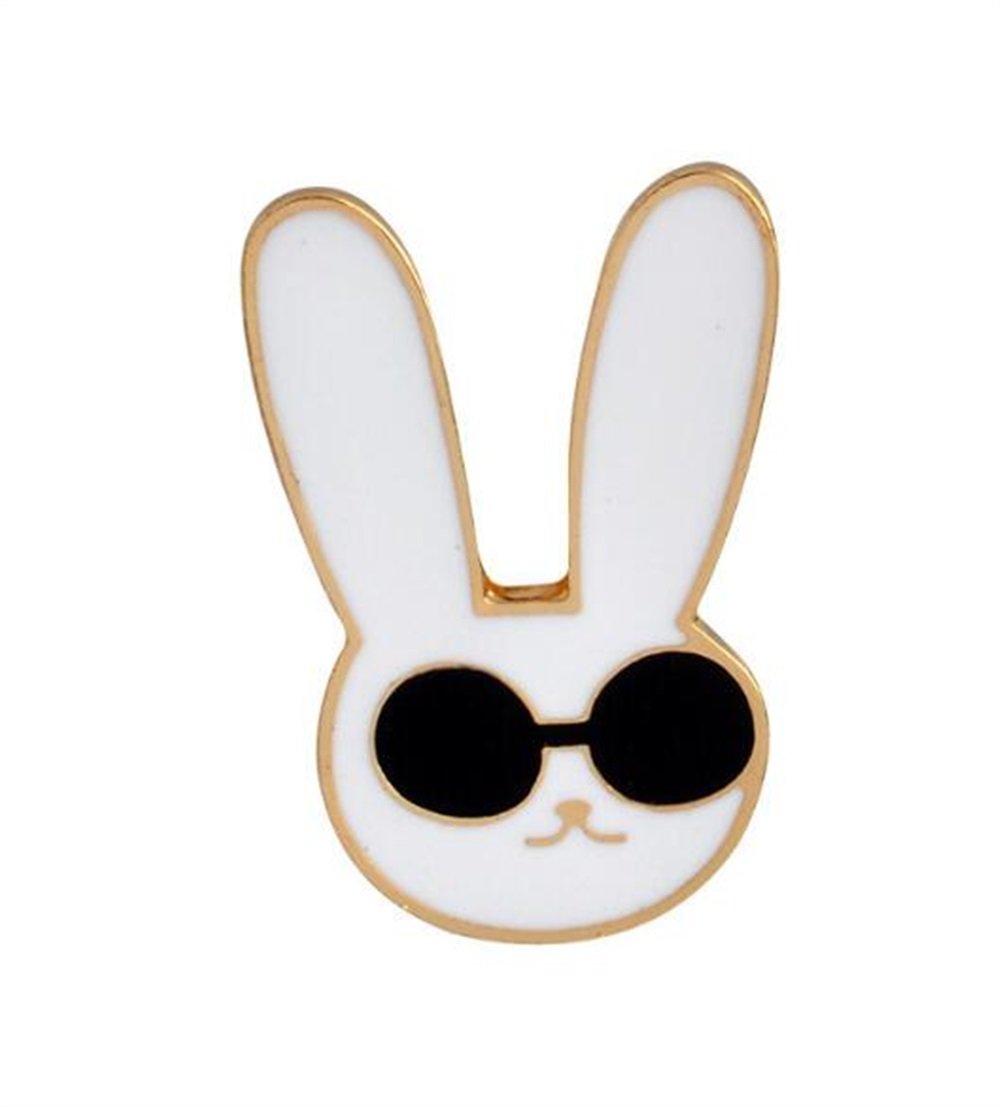 Enamel Pin Badge Souvenir Accessoire de vêtements de badge de bouton de broches de lapin exquis Accessoire (couleur blanche) TOUYOUIOPNG