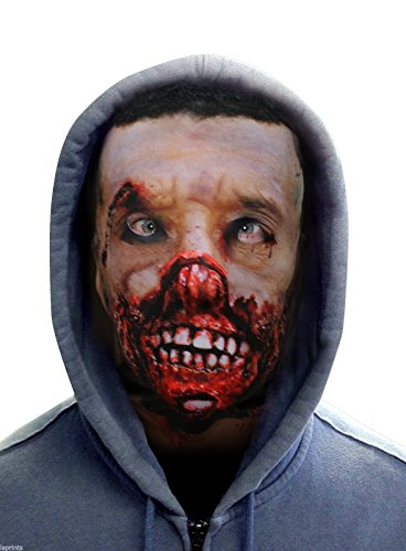 FACE SKINZ - ROTTING FACE ZOMBIE Lycra Face Mask -