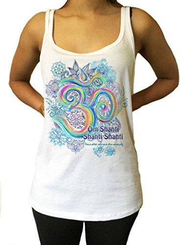 Irony Maglia Colorata Om Vibration Color Motif Meditazione 'Om Shanti' Universal Pace Zen Stampa JTK947