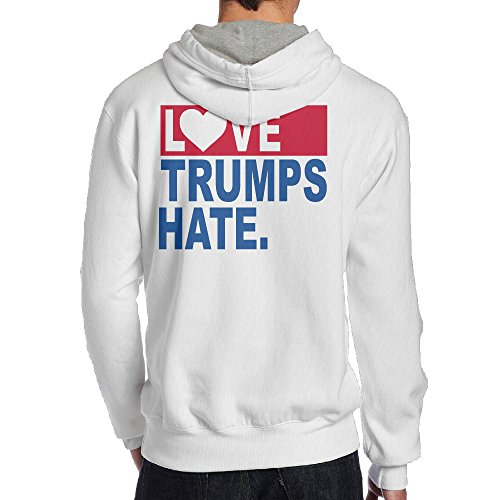 2016 Election Love Trumps Hate Man's Sweatshirts Hoodie ()