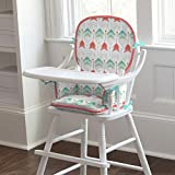 Carousel Designs Coral and Teal Arrow High Chair Pad