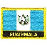 Flaggen Aufnäher Patch Guatemala Schrift Fahne NEU