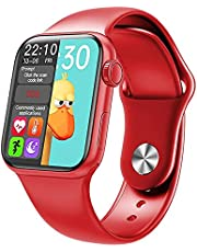 Smart Watch Red Case Size 40mm With Red Silicone Band