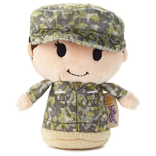 Hallmark itty bittys Green Camo Girl Stuffed Animal