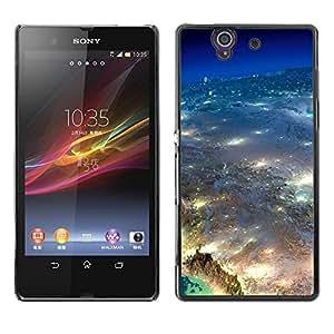 Be Good Phone Accessory // Dura Cáscara cubierta Protectora Caso Carcasa Funda de Protección para Sony Xperia Z L36H C6602 C6603 C6606 C6616 // Universe Earth Aerial Photography Ci