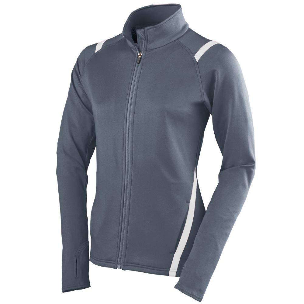 Augusta Sportswear Girls Freedom Jacket, Graphite/White, Small by Augusta Sportswear
