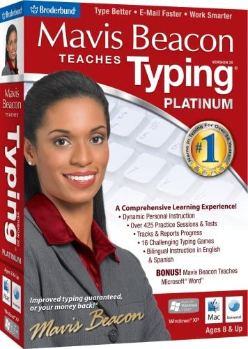 Mavis Beacon Teaches Typing Platinum 20 - Old Version 51KVJ7dRH2BL