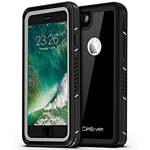 "CellEver iPhone 6 / 6s Case Waterproof Shockproof IP68 Certified SandProof SnowProof Full Body Protective Cover Fits Apple iPhone 6 and iPhone 6s (4.7"") - Jet Black"