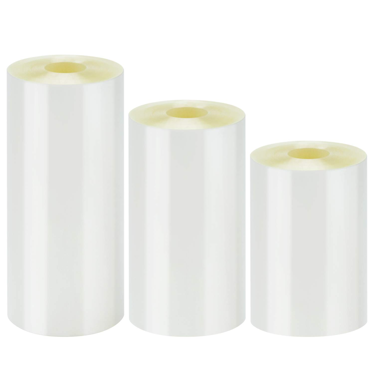 Elcoho 3 Rolls Hard Cake Collars Mousse Cake Collar Clear Cake Strips Rolls for Chocolate Mousse Cake Baking or Decoration, 3 Sizes (2.4 x 394 inch /3.15 x 394 inch /3.93 x 394 inch) (Mixed Sizes)
