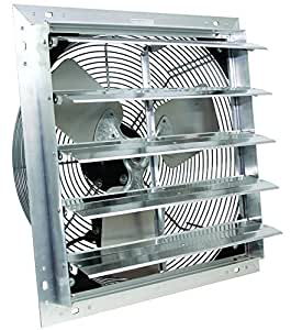Ves 16 Exhaust Shutter Fan 3 Speed Wall Mount Greenhouses Garden Outdoor
