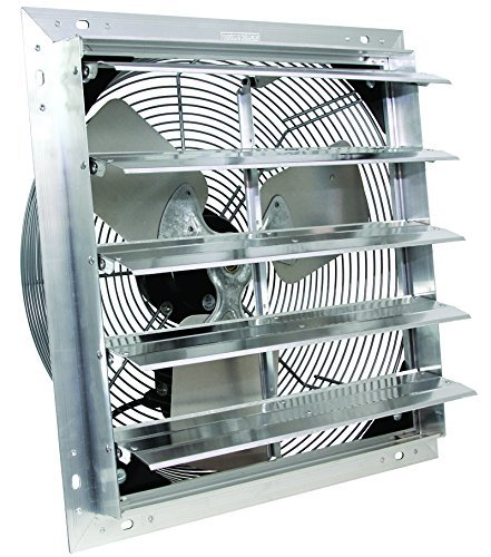 VES Exhaust Fan, Shutter Fan, Box Fan, with 9 Foot Cord 3 Speed for Indoor or Outdoor Ventilation (12 Inches)