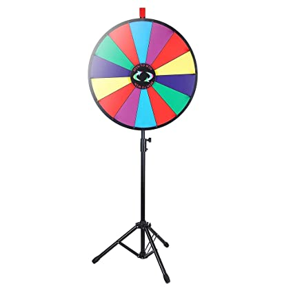 amazon com winspin 24 color prize wheel fortune w folding tripod