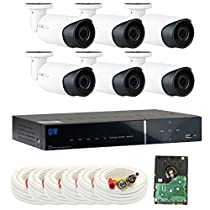GW Security VD8CH6C820 8 Channel DVR Color Night Vision Security Camera System with 6 x 1000TVL 720P Starlight Varifocal Zoom Outdoor Indoor Cameras, 1 TB Hard Drive Pre-Installed