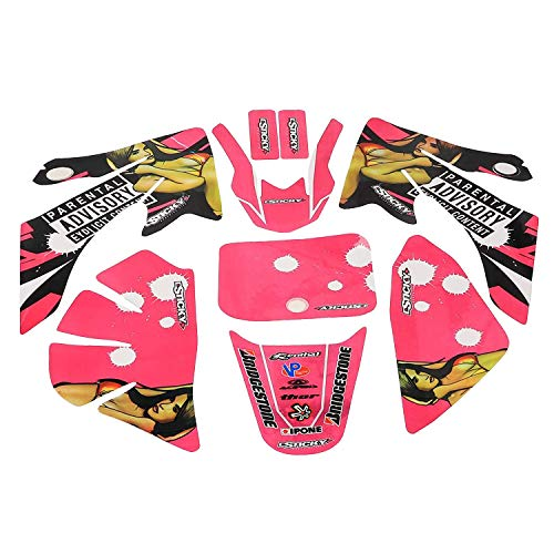 - ZXTDR Plastic Fenders Fairing Body Sticker Graphics Decals Parts Kit For CRF50 Motorcycle Dirt Pit Bike (Style 1)