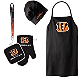 Cincinnati Bengals NFL Barbeque Apron and Chef's Hat and Oven Mitt with Bottle Opener