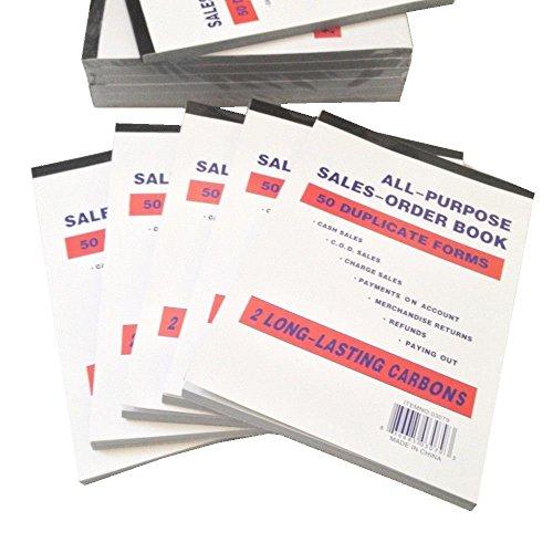 "Large Sales Order Book Receipt Invoice Duplicate Carbonless Copy 50 Sets 5.5"" X 8""5"