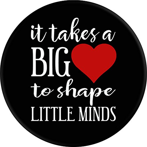 CocomoSoul-Mobile It Takes A Big Heart To Shape Little Minds Teacher Appreciation Gift - Last Day Of School Gift PopSockets Stand for Smartphones and Tablets