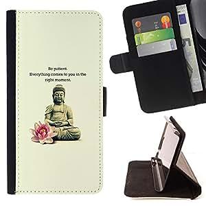 - Queen Pattern FOR LG G2 D800 /La identificaci????n del cr????dito ranuras para tarjetas tir????n de la caja Cartera de cuero cubie - Buddha lotus flower meditation quote -