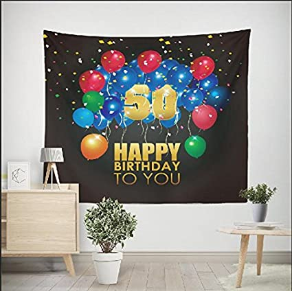 DPIST 50th Birthday Decorations Photo Booth Backdrop For Pictures Party Studio Props Also Can