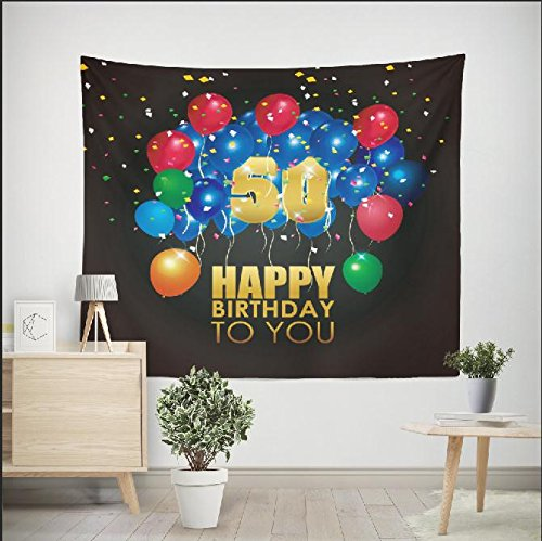 DPIST 50th birthday decorations Photo Booth Backdrop For Pictures Birthday Party Studio Props-Also Can Be Used As Tapestry Home Wall Decoration